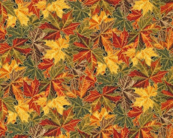 Into the Woods-Fall Leaves~Cotton Fabric, Fabri-Quilt Fast Shipping F655