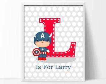Boys Bedroom Art Print. Personalized Name Art. Super Hero Art Print. Baby  Boys Part 90