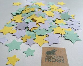 Stars Table Confetti - Yellow, Green & White
