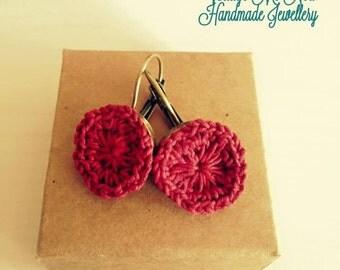 handmade crochet earings