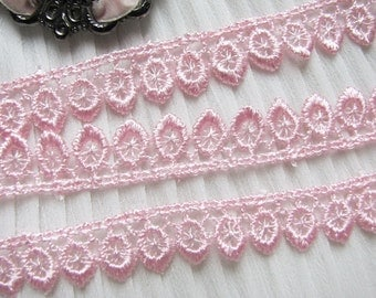 14 yards Venise Lace Trim~ 1/2 inch ~PINK Victorian #97~ Baby ~Doll~ Pillow~