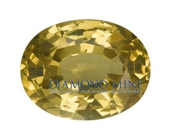 2.11 Carat Yellow Sapphire, Oval cut Sapphire, Loose Sapphire Gemstone, Yellow Gemstone, Non Heated Real Sapphire