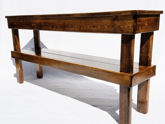 Farmhouse Media Table Rustic Console Table Reclaimed Wood