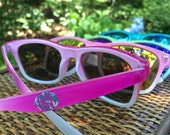 Monogrammed Sunglasses - The Perfect Summer Accesory - Several Bright colors and Preppy Patterns Available