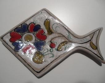 Schiavon plate,Schiavon deco plate,small plate,ceramic plate,jewelry bowl,Italian ceramic,handpainted plate,small ceramic plate,plate