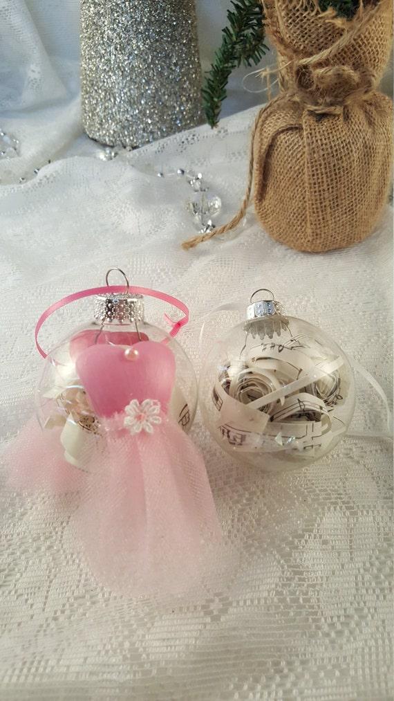 Set of 2 pink tutu ornaments tree decor ballerina gift dance for Ballerina tree decoration