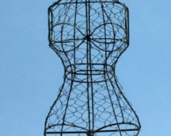 WIRE DRESS MANNEQUIN Tabletop Wire Dress Form Decorative Mannequin