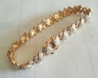 Sterling Silver Bracelet with Gold Wash