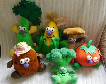 6 Vintage Vegetable Friends by Toybox