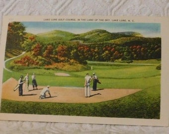 Vintage Lake Lure Golf Cours, in the Land of the Sky, Lake Lure, NC Postcard