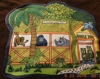 1977 Jungle Zoo Carry A Long Pouch