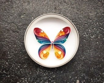 "Mini Quilled Paper Art Magnet : ""The Butterfly"""