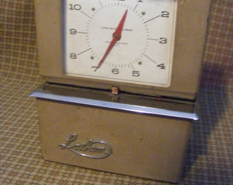 Time Clock - Vintage Industrial Lathem Electronic Clock Mid Century Punch Card