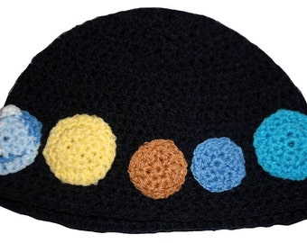 Hand Crocheted Planets Hat