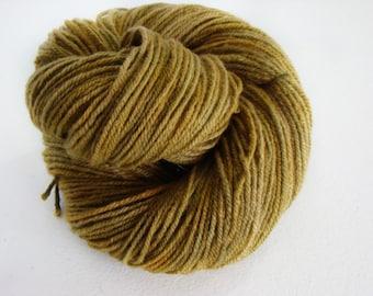 Olive Green, Hand Painted Yarn, Targhee Wool, Worsted Weight Yarn, Hand Painted Wool, Olive Green Yarn, Hand Dyed Wool, Olive Green Wool
