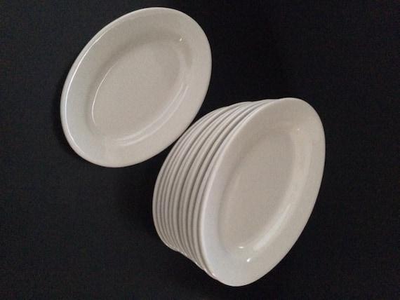 Set Of 12 Buffalo China Small Platter Oval Dinner Plates