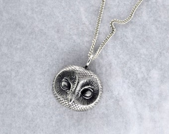 Owl Pendant in Sterling Silver