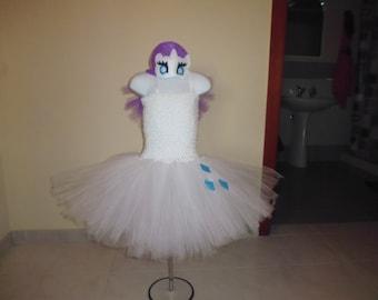 Rarity my little pony inspired tutu dress