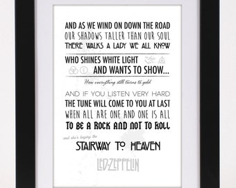 Items Similar To Led Zeppelin Stairway To Heaven Lyrics