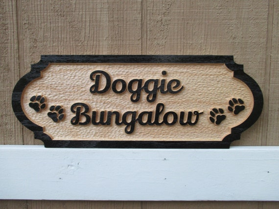 Decorative Name Plates For Home: Personalized Dog House Sign Red Oak Custom Outdoor Sign