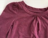 Black plum Long sleeve tee hand-dyed baby & children's t-shirt | fall baby shirt | organic tank top | baby girl toddler girl child