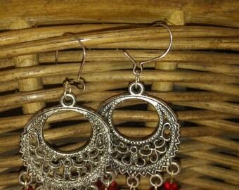 Swarovski Crystal Chandelier With Sterling Silver Dangle Earrings