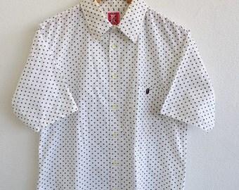 A Bathing Ape Shirt Large Japan BAPE Star Over Print 90's Swag New York Hip Hop Vintage Streetwear Buttondown Oxfords Shirt Size L
