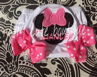 mini mouse bloomers/Diaper Cover