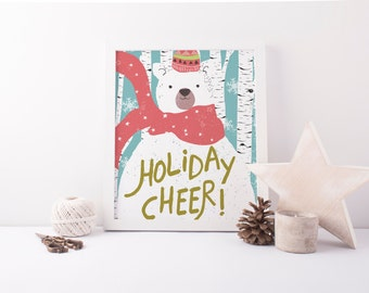 Holiday Cheer Winter Polar Bear