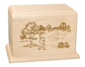 Maple Golf Wood Cremation Urn