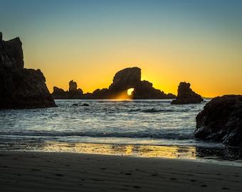 Oregon Coast Photography, Ecola State Park, Goonies, Cannon Beach Print, Wall Decor, Pacific Northwest, 101, Sunset, Twilight Fine Art Print