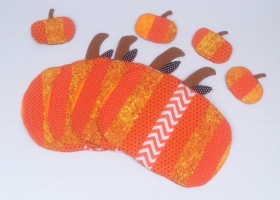Pumpkin Quilted Placemats and Coasters