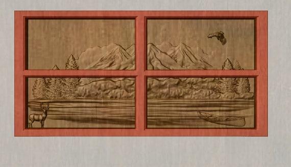 Rustic Cabin Wall Decor : Rustic cabin decor deer wood carving wall