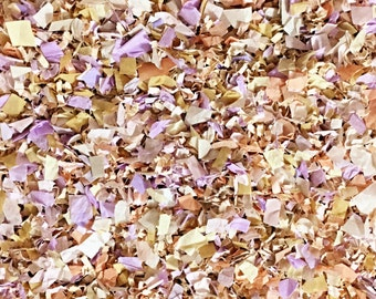 Lilac Peach Ivory Floral Biodegradable Confetti Wedding Party Decorations