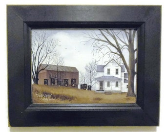 Sunday Service, Primitive Decor, Amish Print, Billy Jacobs Print, Art Print, Wall Hanging, 9X7, Real Wood Frame, Handmade,   Made in USA
