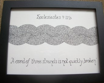 A Cord of Three Strands Personalized Art