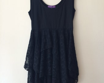 Ready to Ship Size S/M Sample Tattered Lace Dress