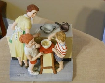 Mother's Little Helpers. Norman Rockwell, American Family Series Figurine (1981)