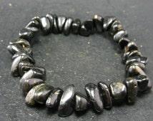 "Nuumite Nuummite Bracelet From Greenland - 7"""