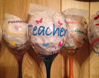 Teacher Wine Glasses