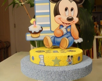 Baby Mickey 1st / First / One Birthday Cake Topper