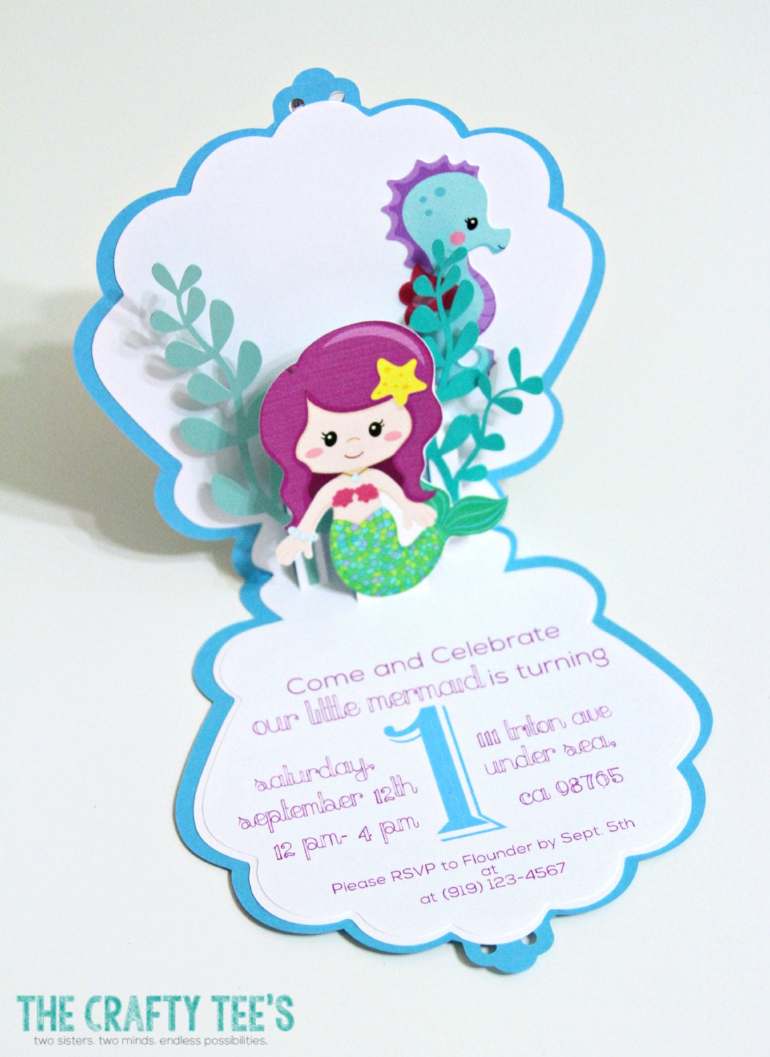 mermaid invitation mermaid invitations pop
