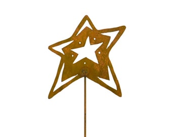 Open Star Metal Garden Stake, Yard Art GS55