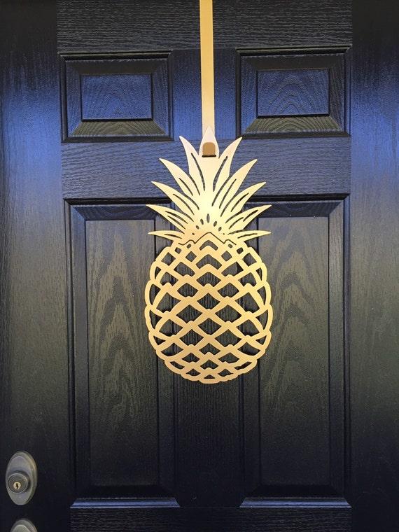 Pineapple Front Door Wreath 20 Tall Metal By