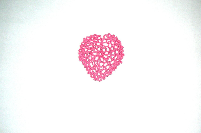 Crochet heart applique scrapbookingwedding decorations for Applique decoration