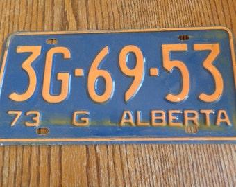 Vintage Alberta License Plate Vinage Auto Plate Vintage License Alberta Decor