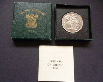 1951 Crown coin, issued to commemorate the Festival of Britain, in good un-circulated condition.