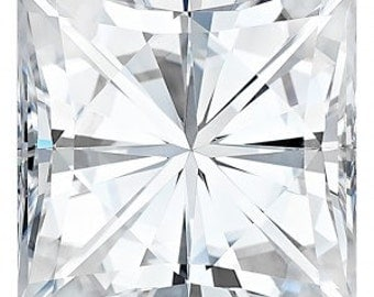 Forever One Moissanite Princess Cut| Loose Moissanite| Diamond Alternative