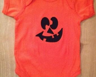 ON SALE Jack-o-lantern Pumpkin Shirt or Baby Bodysuit
