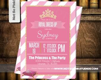 Royal Pink Princess Birthday Invite